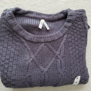 💛 Mudd Gray Womens Cable Sweater, size XL.